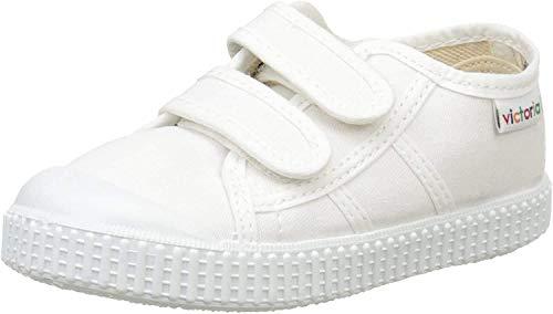Victoria Basket Lona Dos Velcros, Zapatillas Unisex Niños, Blanc (20 Blanco), 24 EU