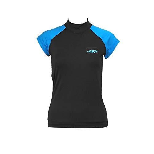 Camiseta de licra KSP Skill Woman S/S 2016/2017Black XL Shirt for Kite...