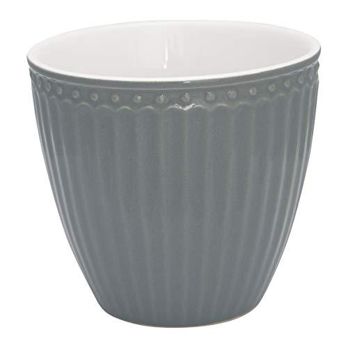 GreenGate - Tasse, Latte Cup - Alice - Porzellan - Stone Grey - 300 ml