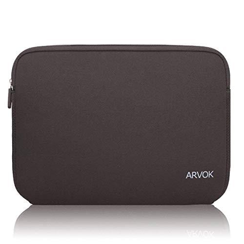 Arvok 13 13,3 14 Zoll Laptoptasche Schutzhülle Wasserdicht Neoprene, Laptop Sleeve Case Laptophülle Notebook Hülle Tasche für Acer/Asus/Dell/Fujitsu/Lenovo/HP/Samsung/Sony, Braun