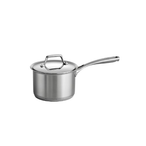 Tramontina 80101/024DS Gourmet Prima Stainless Steel, Induction-Ready, Impact Bonded, Tri-Ply Base Covered Sauce Pan, 2 Quart, Made in Brazil