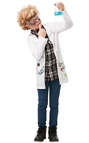 Rubies 640786 S - Chaqueta oficial de cientfico loco, uniforme, talla para nios de 9 a 10 aos, unisex, multicolor, talla XL