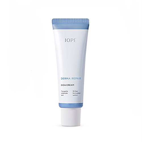 IOPE New Derma Repair Cica Cream 50ml Day Night Facial Moisturizer Madecassoside 10 Free For Sensitive Skin