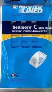 18 Vacuum Cleaner Bags for Sears Kenmore 5055 50557 50558 Panasonic C-5 C5 C Q
