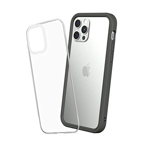 RhinoShield [iPhone 12 / 12 Pro] Mod NX耐衝撃ケース - 通常背面ケースとバンパーケースの使い分けが可能 - グラファイト