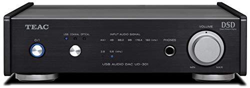 Teac UD-301-X Kompakter Digital-Analog-Wandler mit USB-Audioeingang, Schwarz