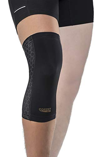 Copper Fit Unisex-Adult's Freedom Knee Compression Sleeve, black, Medium