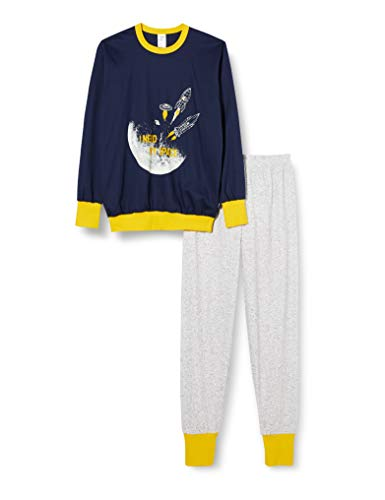CALIDA Jungen Boys Space Pyjamaset, Peacoat Blue, 164