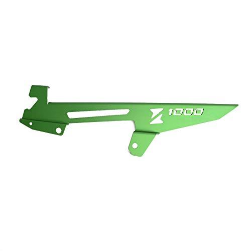 KIILING Cubierta de la protección de la Cadena de la Motocicleta para Kawasaki Z1000 2010-2016 Z1000SX 2011 2012 2013 2014 2015 2015 2016 Cadena Protector Portada (Color : Green)