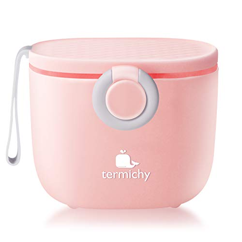 Milchpulver Portionierer, Termichy Milchpulver-Spender, 500ml luftdichter tragbarer Milchpulver-Behälter für Reisen, mit Schaber und Löffel (Pink)
