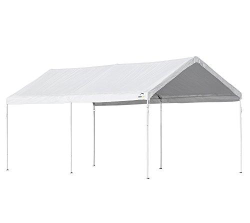 ShelterLogic Abri de voiture Canopy - Tonnelle - 18,3 m² - Blanc - 300 x 610 x 290 cm (l x p x h) - Montage ultra rapide
