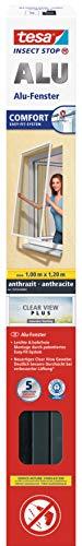 tesa® Fliegengitter ALU Comfort Fenster Grau (anthrazit), 1m:1,2m