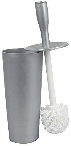 Plastic Tapered Max 76% Manufacturer OFFicial shop OFF Toilet Brush and Inches 4x15 Gray Holder Bathr