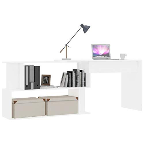GOTOTOP Aparador de madera maciza, escritorio de madera maciza de color vivo, aparador de estilo vintage, mesa de ordenador portátil, escritorio de libro para oficina en casa