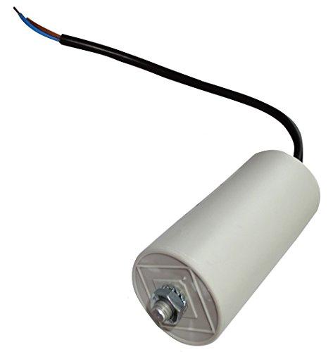 AERZETIX: Condensador permanente para trabajo del motor 31.5µF 425V precableado Ø45x92mm ±5% 10000h C18732