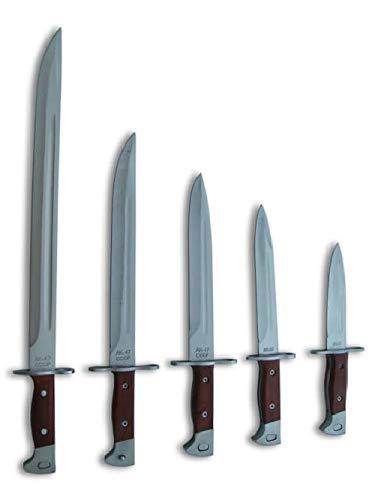 KOSxBO® XXL Set Messer 5X AK47 Messer - Jagdmesser - Zweiter Weltkrieg - Bajonett - feststehende Klinge - II World War Knife WW2 - Messer mit Holzgriff und Scheide