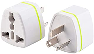 (2pcs) CE Universal Travel Power Plug Adapter AU Australian to USA EU Euro UK Slim 3Pin