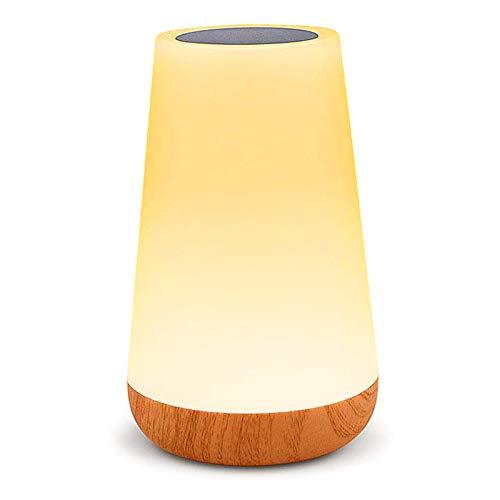 GREENTREEN lampada da comodino, telecomando lampada da tavolo, dimmerabile, cambia colore, lampada da notte con USB touch (Lampada da vaso)
