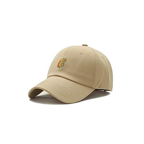 ZZYJYALG Sombreros para hombres 100% algodón letra bordado casual joker curvado sombrero de bronce gorra de béisbol gorra polo estilo clásico deportes casual liso sombrero, tapa ajustable, liviano tra