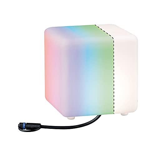 Paulmann 94268 Plug & Shine LED Apparecchio Per Esterni ZigBee Cube RGBW Incl. 1 Oggetto Luminoso Dimmerabile Da 2,8W IP67 Bianco 3000K 2.8 W, Piccolo