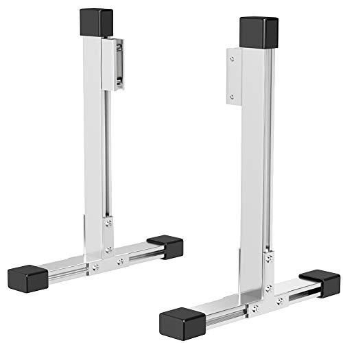 A Pair of Large Durable Aluminum Alloy Stable Glass Stands Clamp Bracket to Support Acrylic Panels & Plexiglass Sheets 1/8' to 3/10' Thick, Freestanding Plexiglass Sneeze Shield Holders