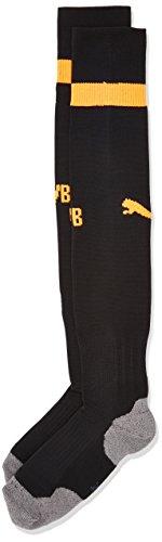 PUMA Herren BVB Socks Stutzen, Black/Fluo Orange, 1