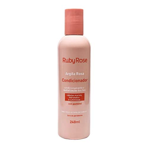 RUBY ROSE CONDICIONADOR ARGILA ROSA - 240ML facilita pentear