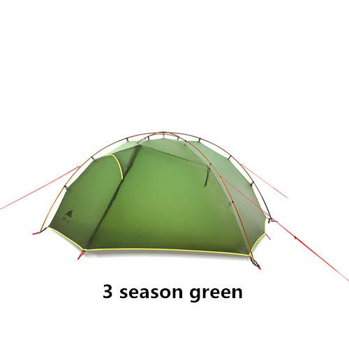 Mdsfe 3F UL GEAR Green and white 4 Season Camping Tent 15D Nylon   Double Layer Waterproof Tent for 2 Persons-3 season green