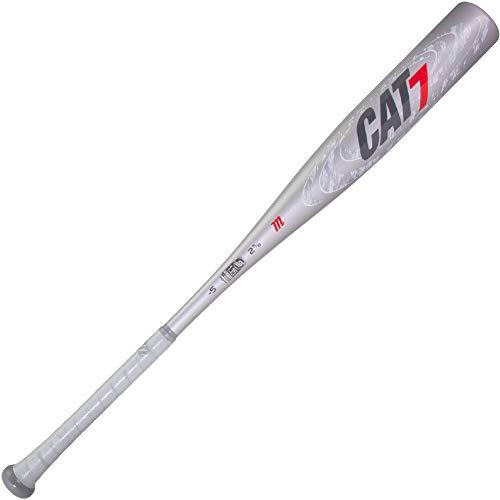 """Marucci CAT7 Silver -5 USSSA Senior League Baseball Bat, 2 5/8"""" Barrel, 31""""/ 26 oz"""