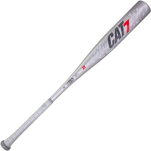 Marucci CAT7 Silver -5 USSSA Senior League Baseball Bat, 2 5/8' Barrel, 30'/ 25...