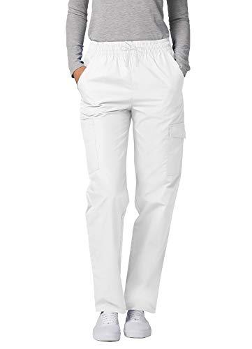 Adar Universal Damen Pflegebekleidung - lockere Cargo Hose - 506 - White - M