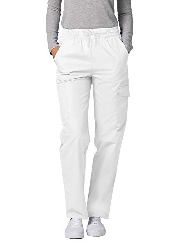 Adar Universal Damen Pflegebekleidung - lockere Cargo Hose - 506 - White - XL