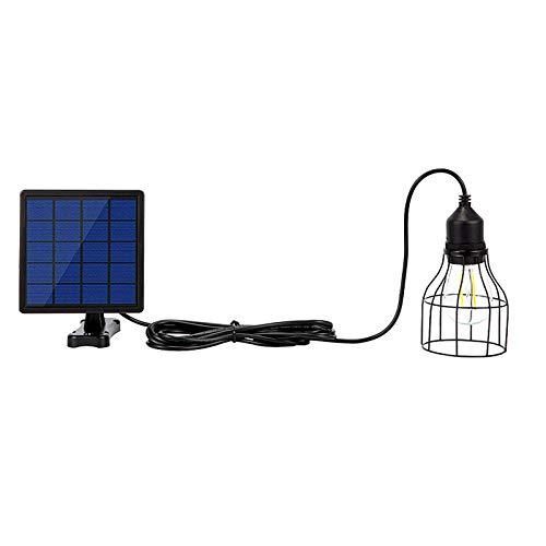 YWJPJ. Luz Solar de luz Solar Luz Solar E27, lámpara de Pared Solar Impermeable para la iluminación de árbol de Calle, Uso Exterior y Interior