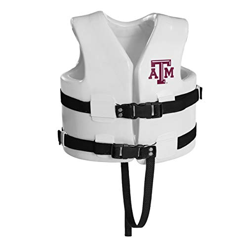 Great Features Of 23 White NCAA Texas A and M Child's Xtra Small Life Vest