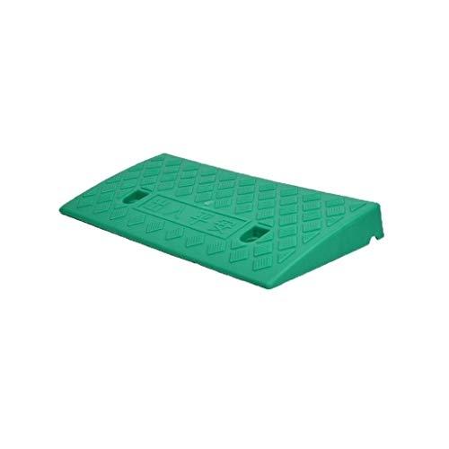 5CM / 7cm Haushalt Threshold Pad, Kunststoff Anti-Rutsch-Pad Slope Kinder Fahrrad-Sicherheits-Rampen for Behinderte Rollstuhl-Rampen (Color : Green, Size : 49 * 27 * 7CM)