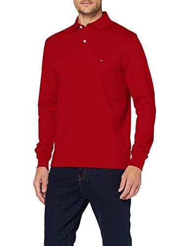 Tommy Hilfiger Herren Tommy Regular Polo Ls Hemd, Arizona Red, XL