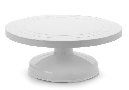 Ibili Torten-/Kuchenständer drehbar/hoch 31 cm aus Kunststoff, weiß, 31 x 31 x 12.5 cm