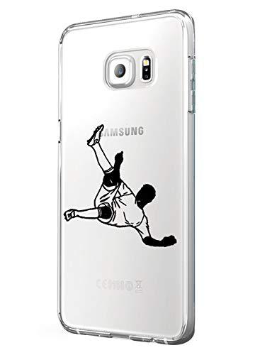 Alsoar ersatz für Samsung Galaxy S6 Hülle, Samsung Galaxy S6 Case, Transparent Weiche Silikon [Ultradünnen] Flexibel Bumper Handyhülle TPU Kratzfest Stadt-Serie Schutzhülle für Samsung S6 (Fußball)