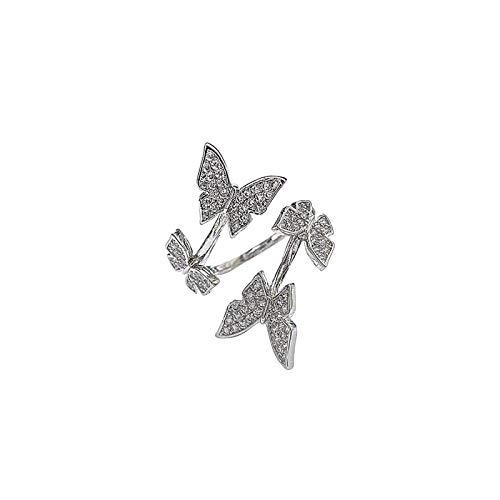 Janly Clearance Sale Anillo de tejer ajustable para tejer con lazo de ganchillo, 1 unidad, para el hogar o para el día de Pascua (A)