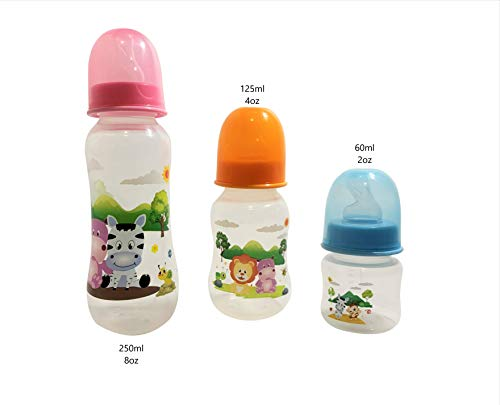 Sale!! Set of Three Baby Bottles for Any Feeding Time. Three Bottles Holding Three Different Amoundt...