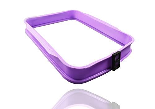 COOX Auflaufform mit Glasplatte - 37,3 x 30,5 x 5,5 cm Flieder Silikon