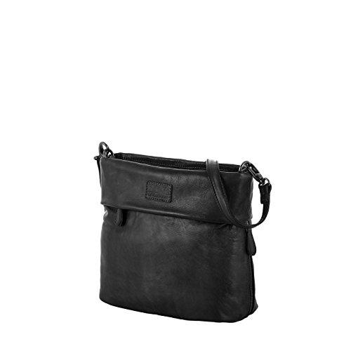 Rada Nature Umhängetasche 'Carrara' echt Leder Handtasche in verschiedenen Farben (schwarz)