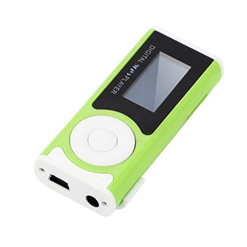 rongweiwang Música Digital MP3 Player USB OLED TF Tarjeta Sn MP3 de la Ayuda 16/32 GB Micro SD TF Tarjeta Ligera del diseño del Clip de la Linterna