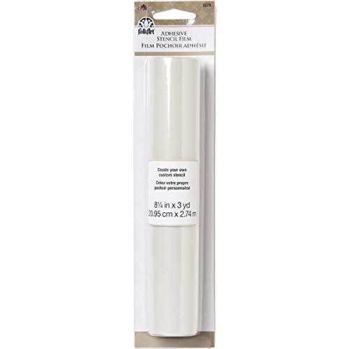 FolkArt Kunststoff-Klebefolie, blanko, 8,25 x 3 m, transparent