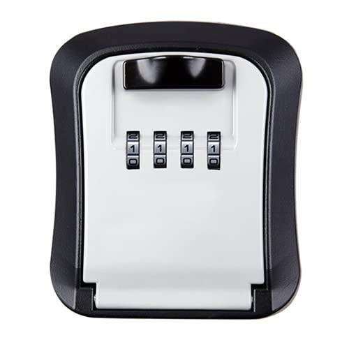Caja de seguridad para llaves (tamaño: 120 x 105 x 40 mm, color: gris)