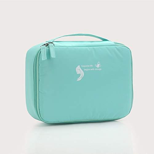 Sac cosmétique Voyage Waterproof Organisateur Portable Trousse Femmes Mode Sacs Valise et Toilette Big Sacs de Maquillage Rose (Color : Green)