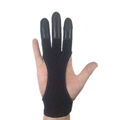 QEES Qualität Echtes Leder Traditionellen Bogenschießen Handschuhe Voller TIPP Schießen Handschuhe HYSJST01 (M)