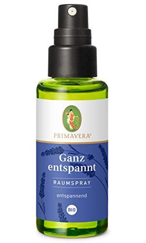 PRIMAVERA Raumspray Ganz entspannt bio 50 ml - Lavendel, Benzoe Siam und Ho-Blätter - Aromadiffuser, Aromatherapie - entspannend - vegan