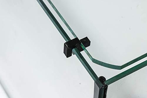 Garnelen Tom U-Line Abdeckscheibe Halter für Wandstärke 3 mm, Deckelstärke 3 mm, schwarz, 4 STK.