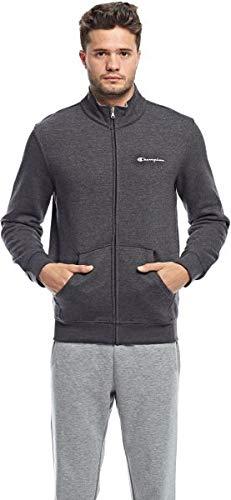 Champion Full Zip Sweatshirt-Institutionals Felpa, Nero (Znbk/NBK), Large Uomo